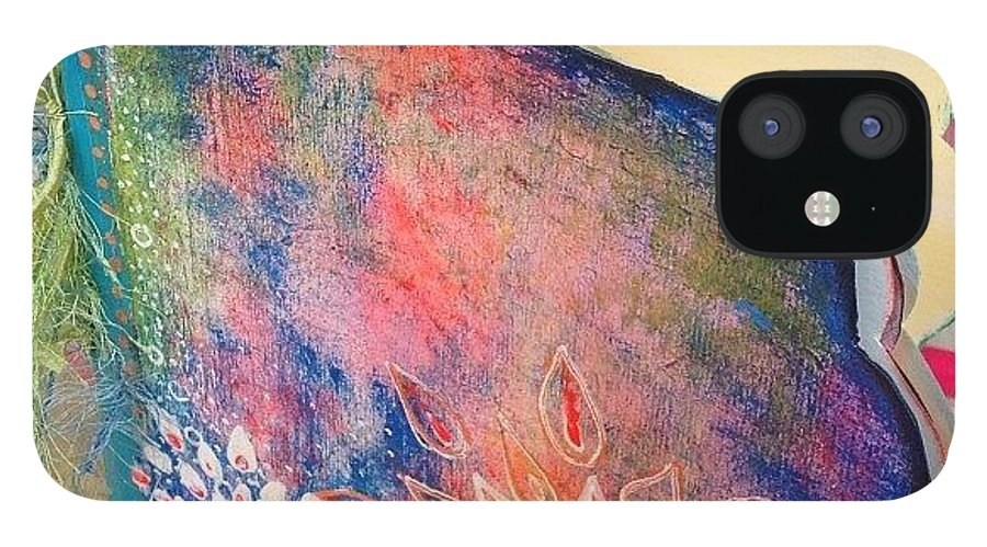 Mixedmedia IPhone 12 Case featuring the photograph A Little Update..not Finished by Robin Mead