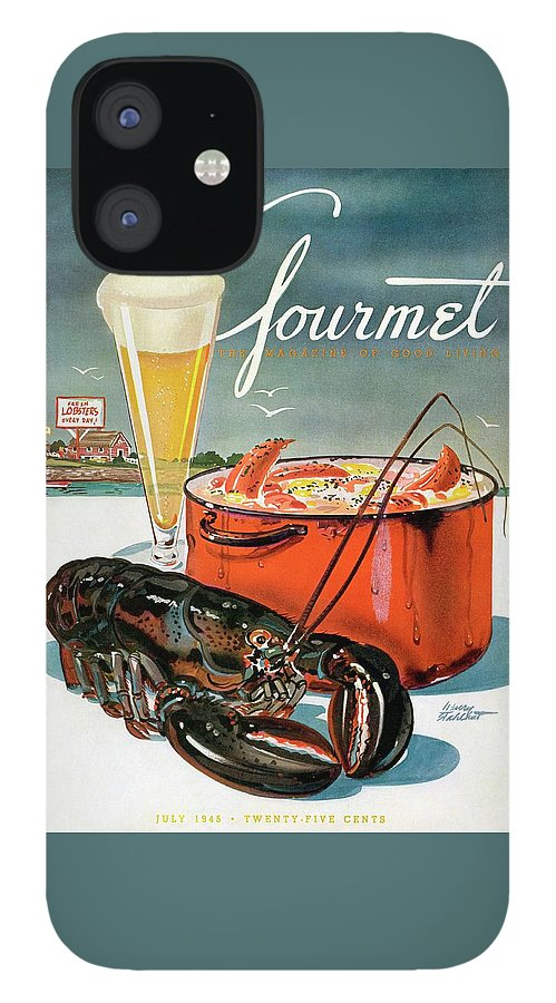 A Lobster And A Lobster Pot With Beer iPhone 12 Case