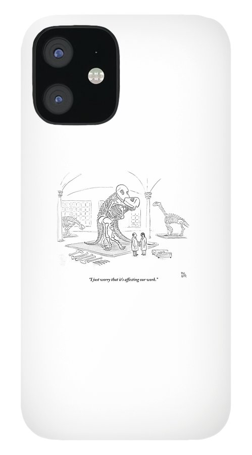 A Male And Female Paleontologist IPhone 12 Case