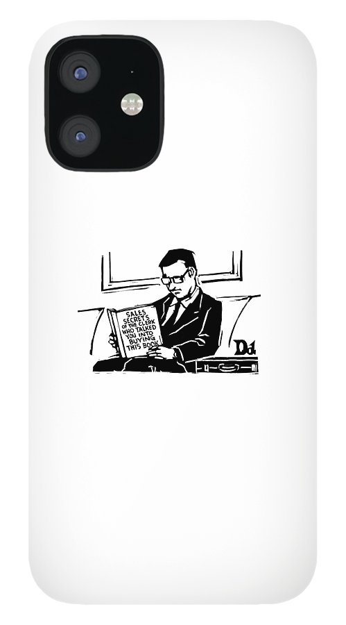 A Man In A Suit Reads A Book With The Title: IPhone 12 Case