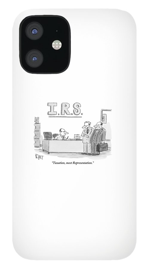 A Man Introduces A Lawyer To An Irs Agent IPhone 12 Case