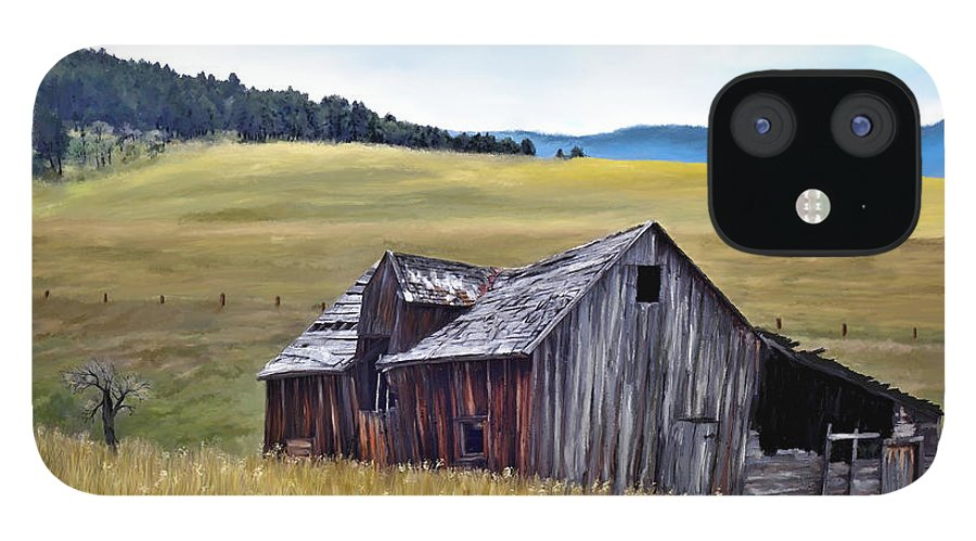 Montana Art IPhone 12 Case featuring the painting A Time in Montana by Susan Kinney