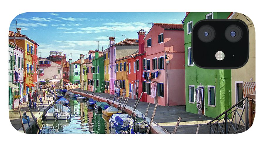 Tranquility IPhone 12 Case featuring the photograph A Tour Of Burano by Diego Gutierrez