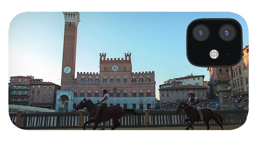 Horse IPhone 12 Case featuring the photograph A Trial Run Of The Famous Palio Di Siena by Tu Xa Ha Noi