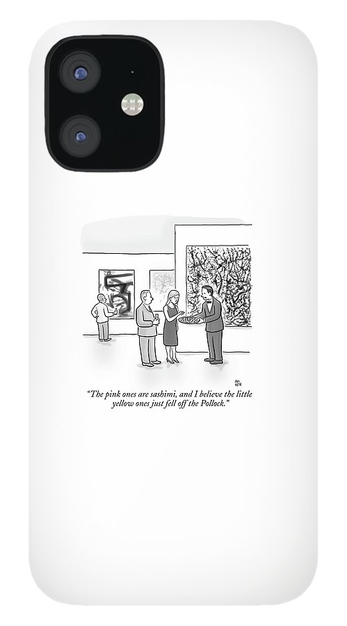 A Waiter Is Seen Speaking With A Woman In An Art IPhone 12 Case