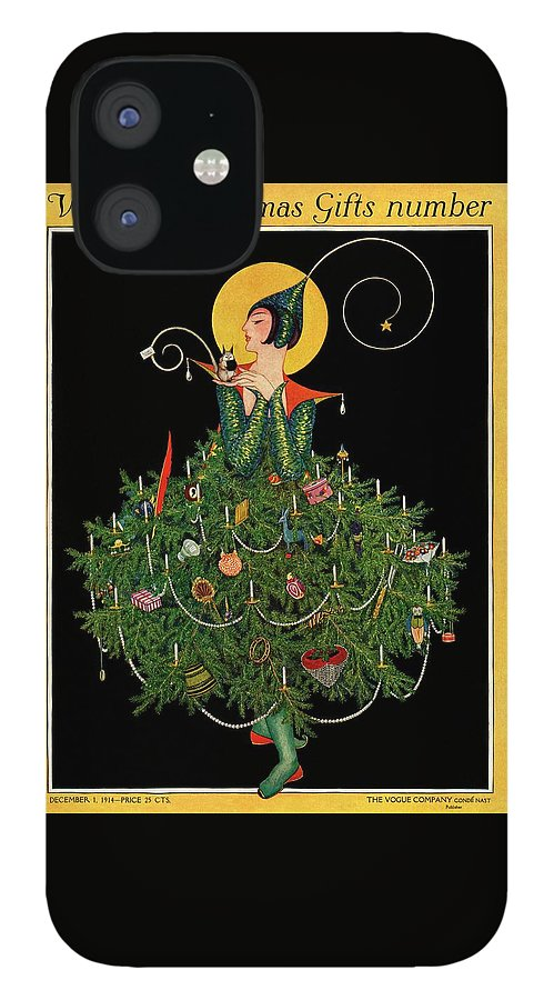 A Woman Dressed As A Christmas Tree IPhone 12 Case