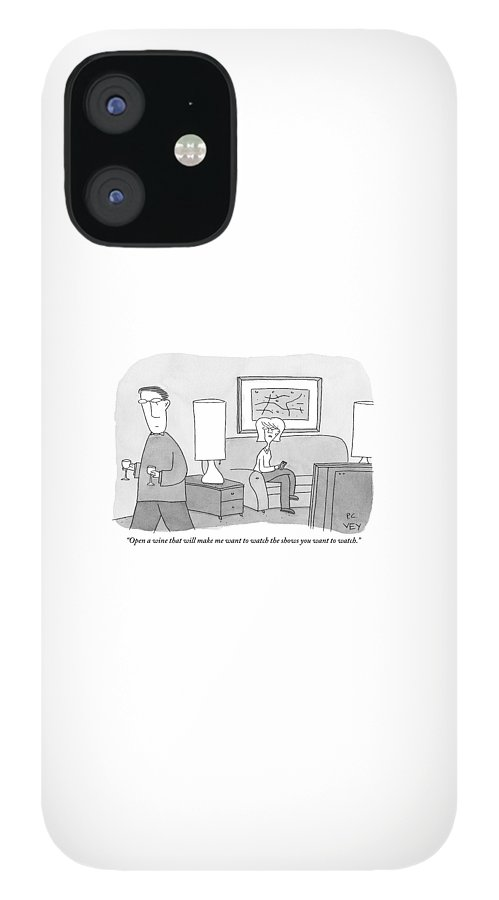 A Woman Seated On A Couch In Front IPhone 12 Case