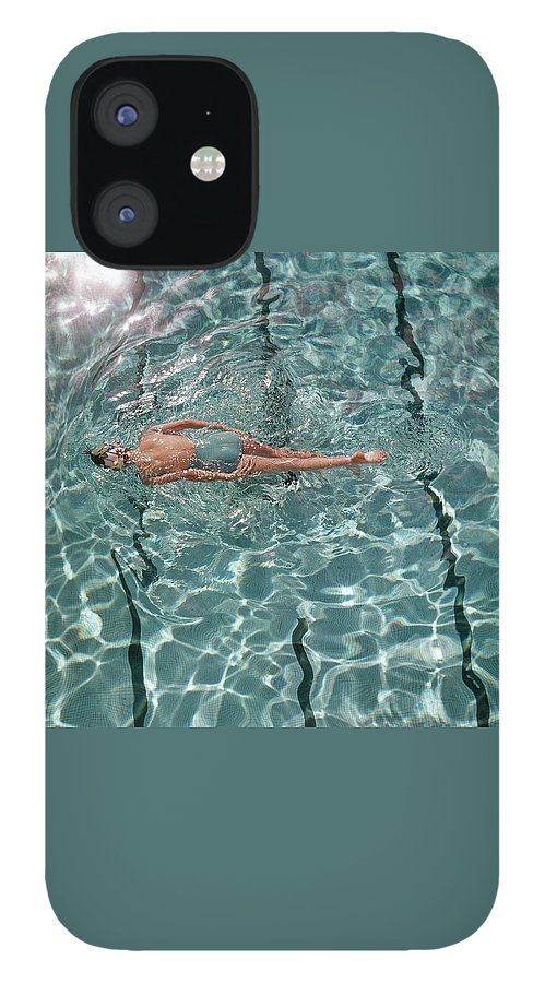 A Woman Swimming In A Pool IPhone 12 Case