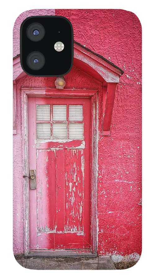 Built Structure IPhone 12 Case featuring the photograph Abandoned Pink And Red House by Stan Strange / Eyeem