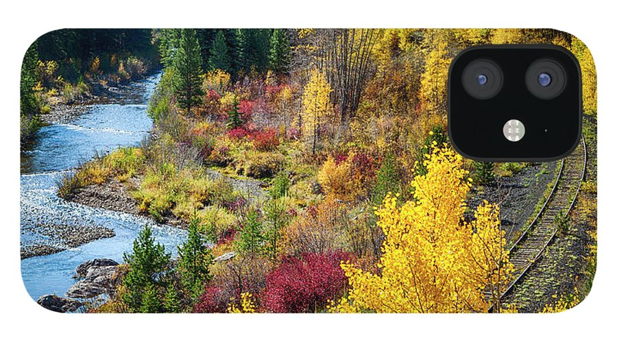 Scenics IPhone 12 Case featuring the photograph Abandoned Railway by C. Fredrickson Photography