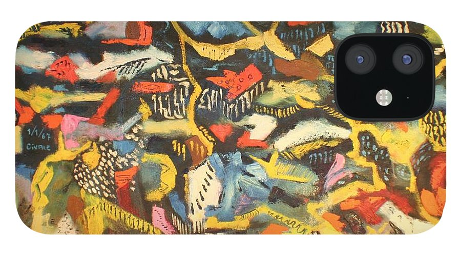 IPhone 12 Case featuring the painting Abstract 1957 by Biagio Civale