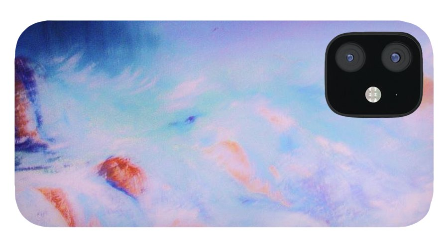 Nature IPhone 12 Case featuring the painting Abstract Sea by Lorenzo Roberts