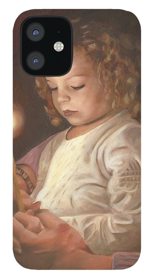 Advent IPhone 12 Case featuring the painting Advent Light by Anne Kushnick