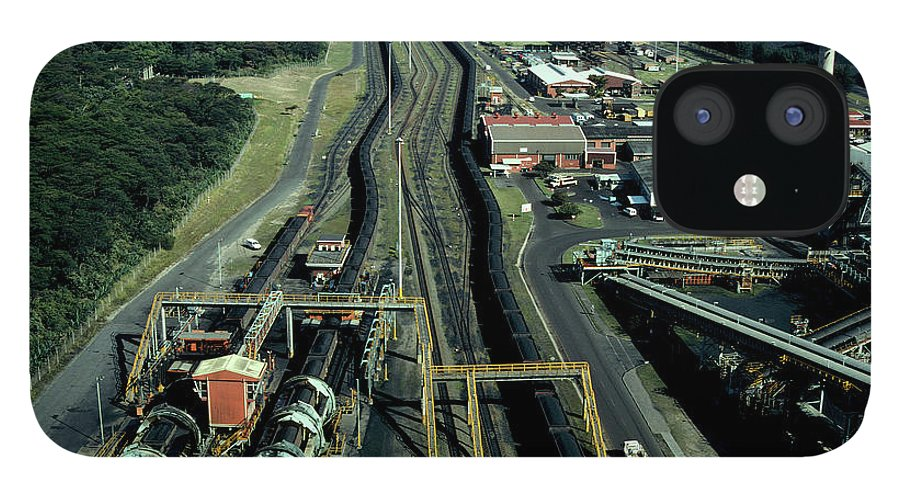 Freight Transportation iPhone 12 Case featuring the photograph Aerial View Of Large Coal Export by Beyondimages