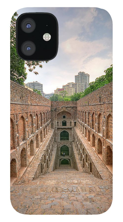Tranquility IPhone 12 Case featuring the photograph Agrasen Ki Baoli, New Delhi by Mukul Banerjee Photography