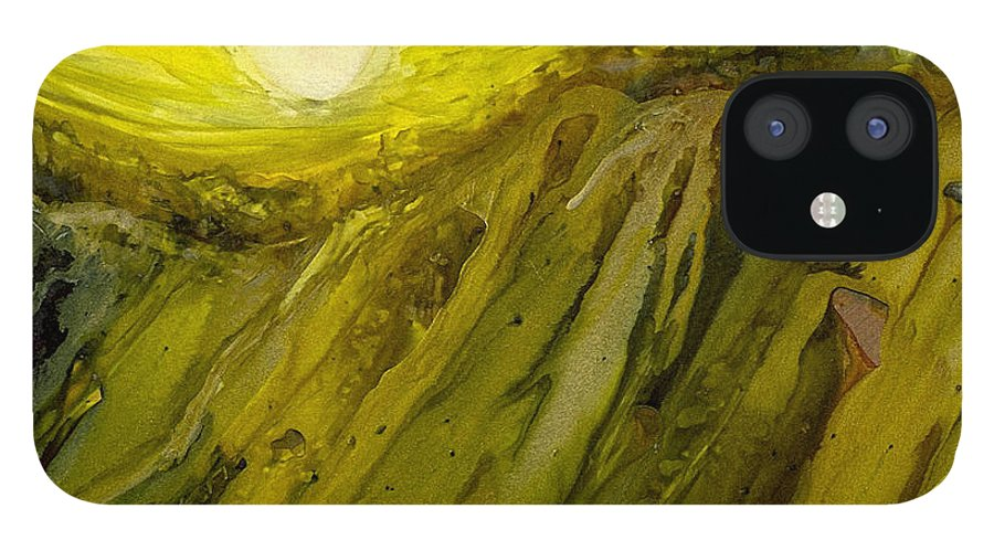Alcohol Inks IPhone 12 Case featuring the painting Ai-8 by Francine Dufour Jones