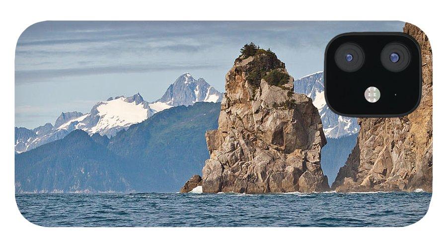 IPhone 12 Case featuring the photograph Alaska Coastline Landscape by Richard Jack-James