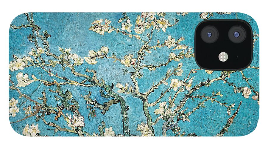 Van IPhone 12 Case featuring the painting Almond branches in bloom by Vincent van Gogh