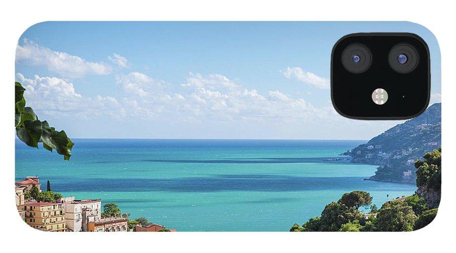 Scenics IPhone 12 Case featuring the photograph Amalfi Coast Landscape Vietri Village by Angelafoto