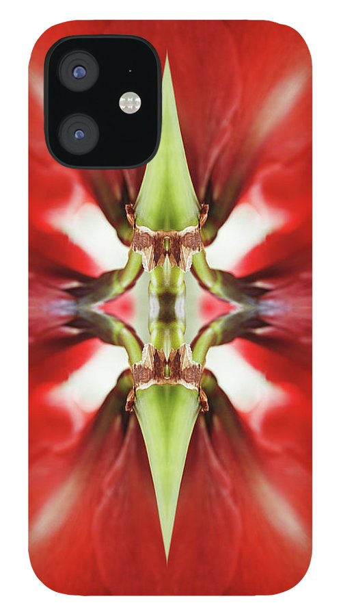 Tranquility iPhone 12 Case featuring the photograph Amaryllis Flower by Silvia Otte