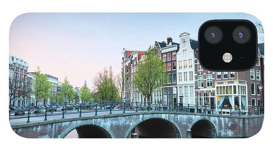 North Holland IPhone 12 Case featuring the photograph Amsterdam At Dusk by Fraser Hall