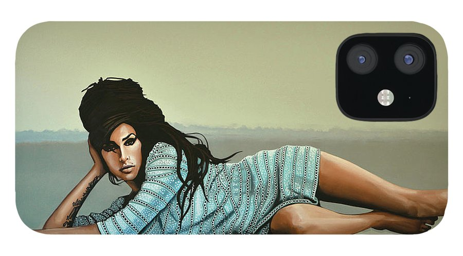 Amy Winehouse IPhone 12 Case featuring the painting Amy Winehouse 2 by Paul Meijering