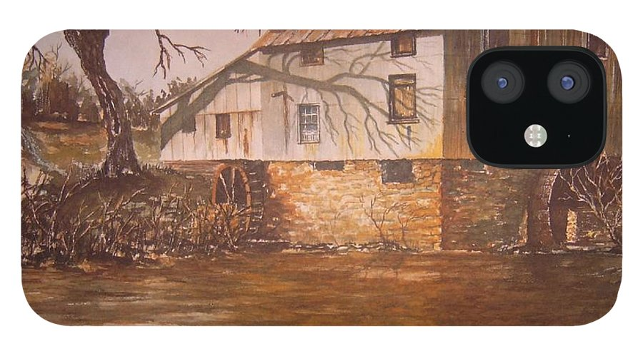 Landscape IPhone 12 Case featuring the painting Anderson Mill by Ben Kiger