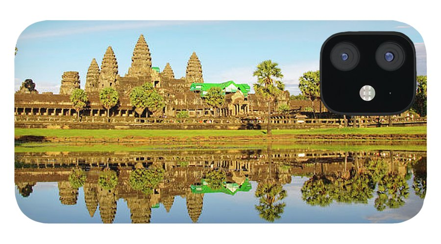 Tranquility IPhone 12 Case featuring the photograph Angkor Wat by Photo By Ramón M. Covelo