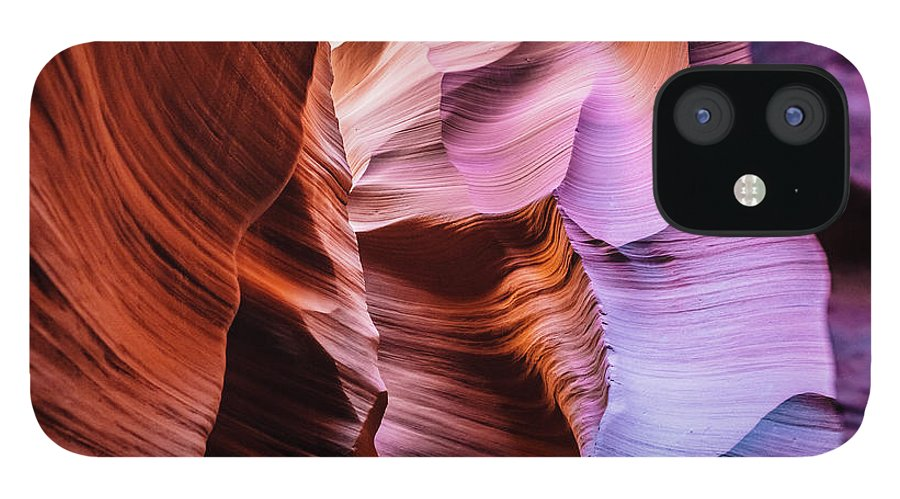 Curve IPhone 12 Case featuring the photograph Antelope Canyon Spiral Rock Arches by Deimagine