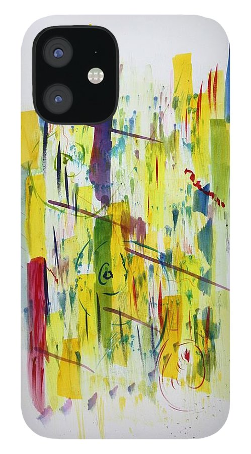 Anxiety IPhone 12 Case featuring the painting Anxiety by Tom Atkins