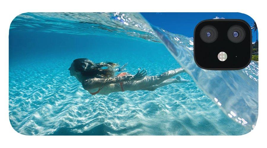 Ocean iPhone 12 Case featuring the photograph Aqua Dive by Sean Davey