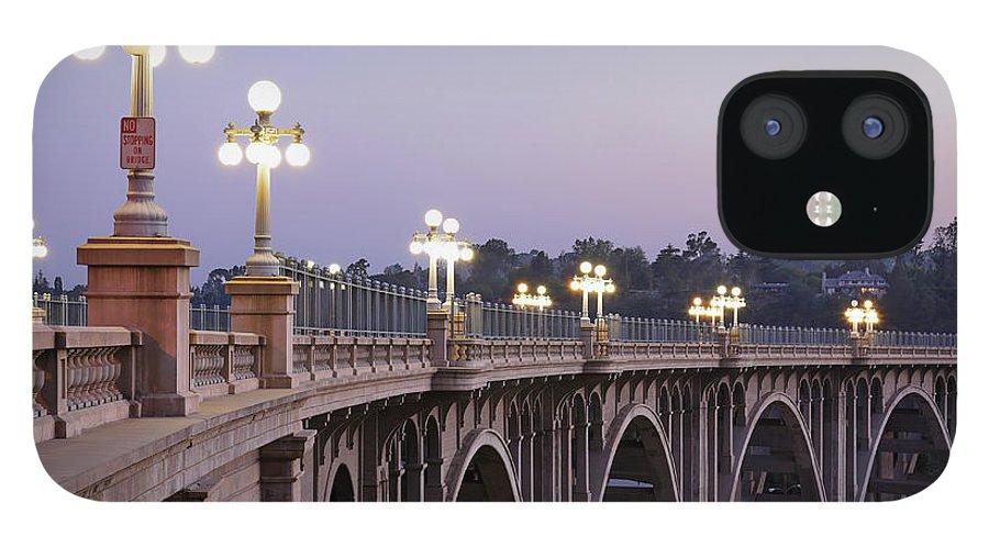 Arch IPhone 12 Case featuring the photograph Arroyo Seco Bridge Pasadena by S. Greg Panosian