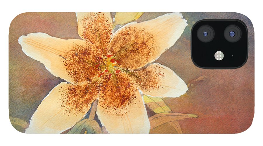 Lily IPhone 12 Case featuring the painting Asiatic Lily by Patricia Novack