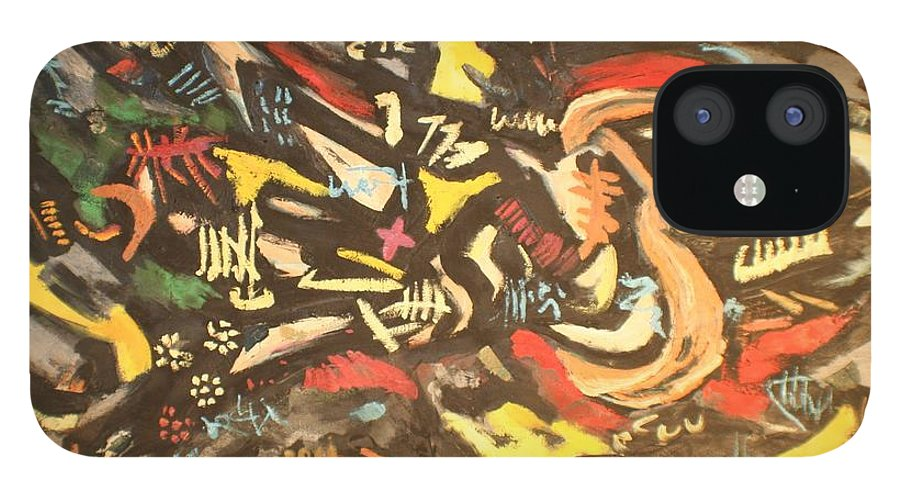 IPhone 12 Case featuring the painting Astratto 1957 by Biagio Civale