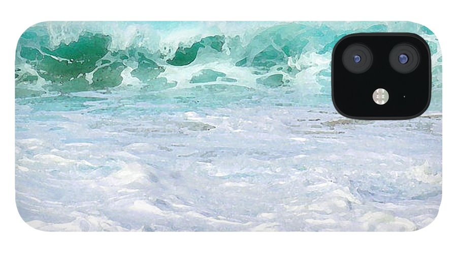 Hawaii Iphone Cases IPhone 12 Case featuring the photograph At Waters Edge by James Temple