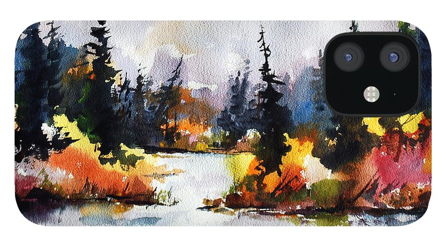 Mother Nature Provides A World Of Leafy Colour iPhone 12 Case featuring the painting Autumn Attitude by Wilfred McOstrich