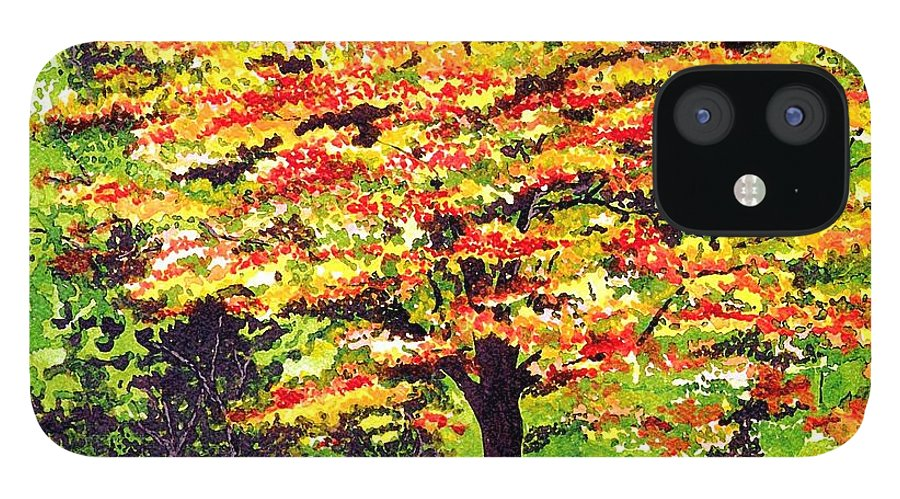 Fine Art IPhone 12 Case featuring the painting Autumn Splendor by Patricia Griffin Brett