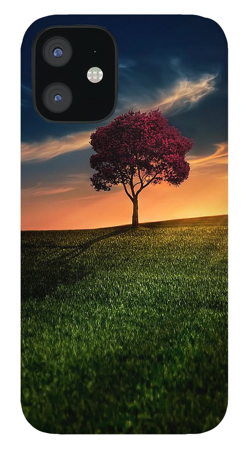 Agriculture IPhone 12 Case featuring the photograph Awesome Solitude by Bess Hamiti