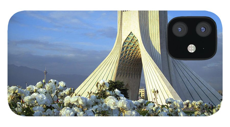 Tranquility IPhone 12 Case featuring the photograph Azadi Tower In Tehran by Photo By David Stanley