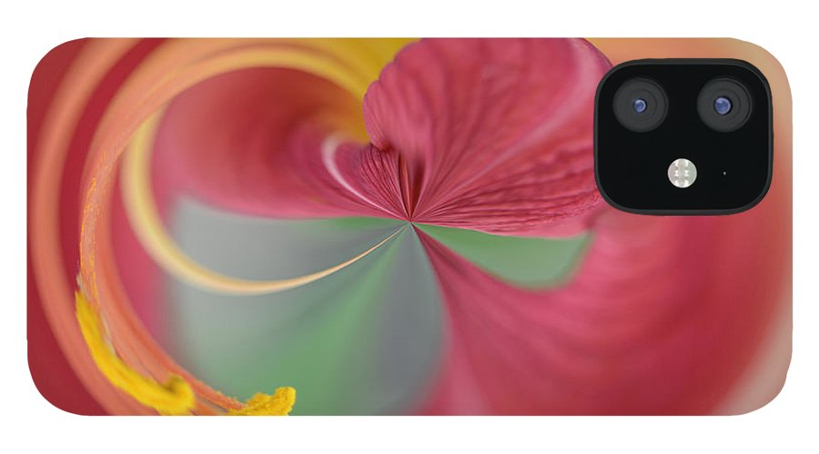 Azalea IPhone 12 Case featuring the photograph Azalea Abstract by Keith Gondron