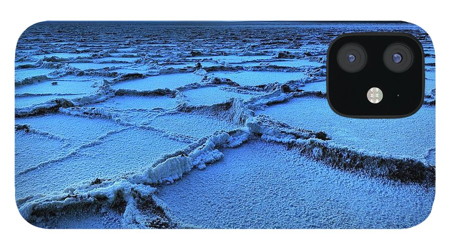 Tranquility IPhone 12 Case featuring the photograph Badwater Dusk, Death Valley, California by Joao Figueiredo