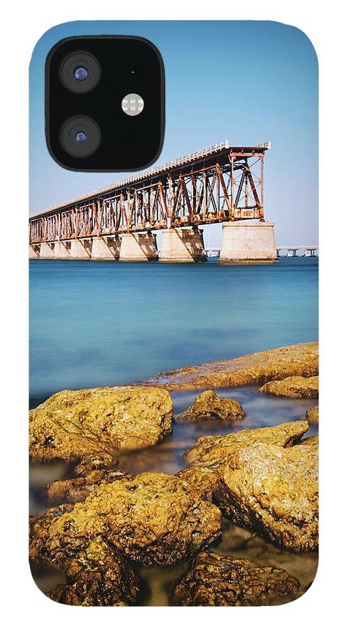 Seascape IPhone 12 Case featuring the photograph Bahia Honda State Park Florida by Ferrantraite