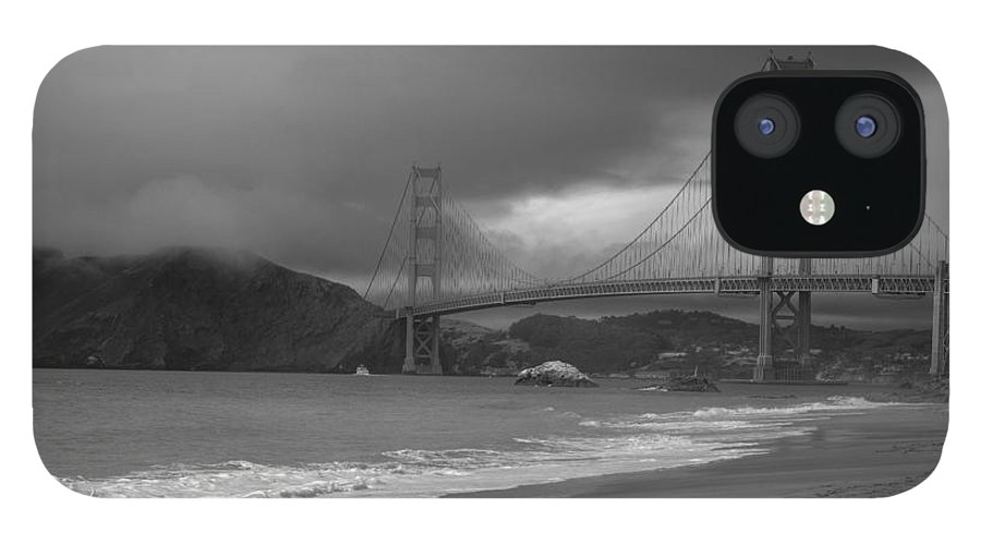 Black And White IPhone 12 Case featuring the photograph Baker Beach View by David Bearden