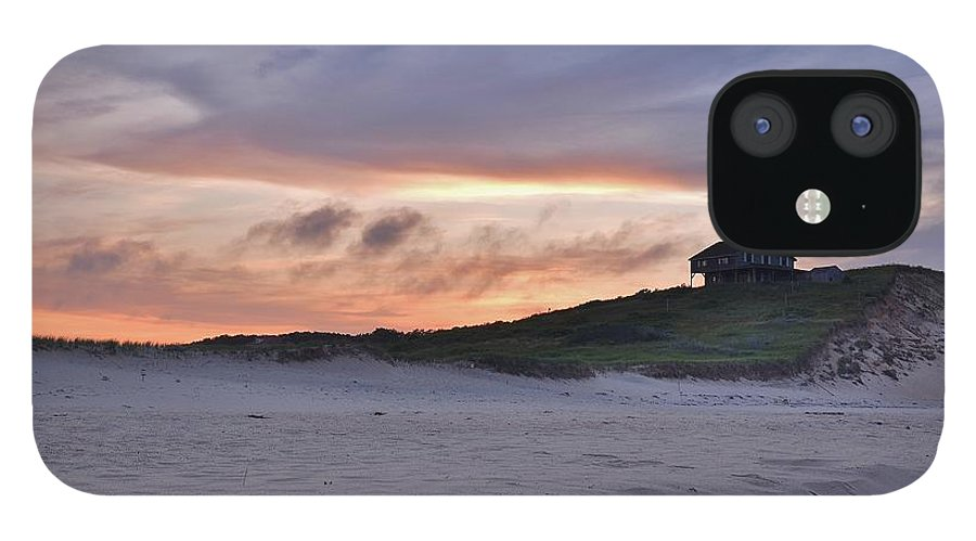Cape Cod iPhone 12 Case featuring the photograph Ballston Beach Sunset by Lisa Kane