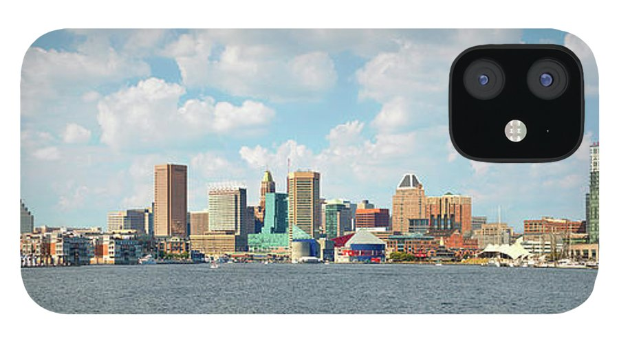 Downtown District IPhone 12 Case featuring the photograph Baltimore Skyline And Inner Harbor by Greg Pease