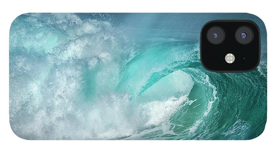 Panoramic IPhone 12 Case featuring the photograph Barrel In The Surf by Simon Phelps Photography