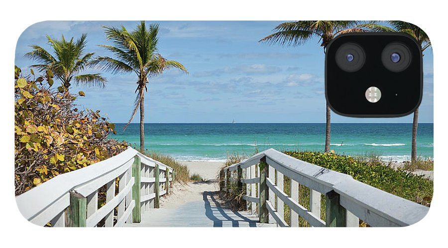 Florida IPhone 12 Case featuring the photograph Beach Entrance, Florida by Kubrak78