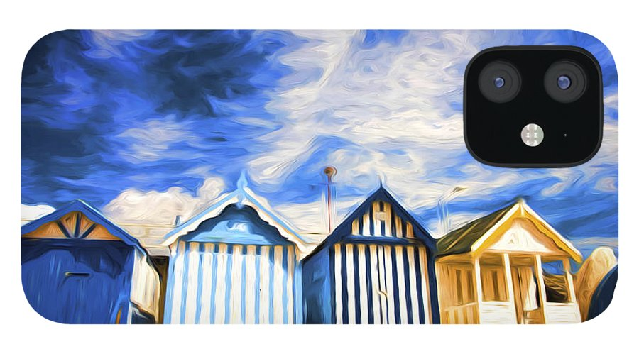 Beach Huts IPhone 12 Case featuring the photograph Beach huts at Southend by Sheila Smart Fine Art Photography