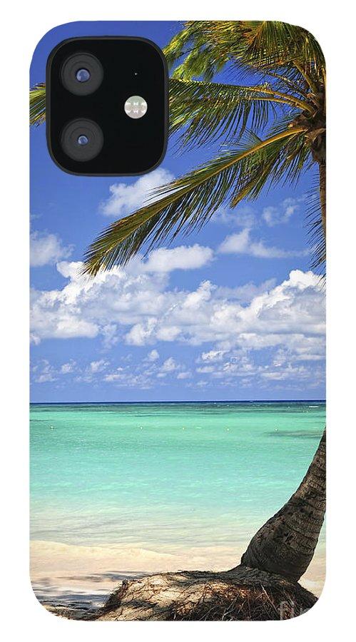 Beach iPhone 12 Case featuring the photograph Beach of a tropical island by Elena Elisseeva