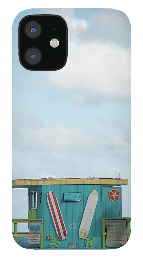 Security IPhone 12 Case featuring the photograph Beach Shack by Aaron Mccoy